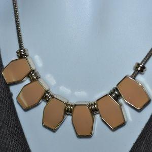 Jewelry - Vintage Beige Enamel Bib Statement Necklace